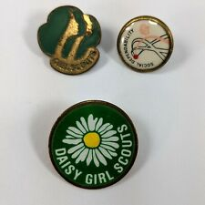 Girl Scouts 1980 SOCIAL DEPENDABILITY Daisy Lapel Pin Lot of 3