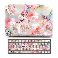 "Peony Flower Matte Hard Case Shell Keyboard Skin for Macbook Air Pro 11"" 13"" 15"""