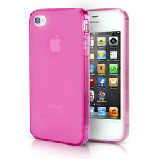 Iphone 4 4s TPU Bumper Case Silicone Dust Protection Cover Matte Transparent