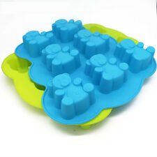 7 Cavity Teddy Bear Chocolate Mould Silicone Cake Muffin Making Toppers Cupcake