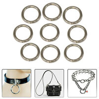 13mm Silver Slit O Ring Stainless Steel Women Webbing Purses Handbag Strap Bag