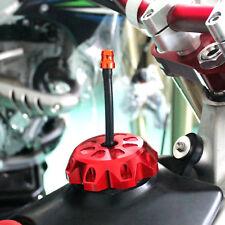 CNC Gas Fuel Tank Cap Valve Vent Breather Hose Black Tube ATV Dirt Bike Orange