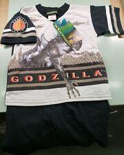 VINTAGE *RARE* 90s Godzilla Kids SZ-4 T-Shirt/Short Set *MADE IN USA* FREE SHIP!
