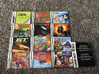 Lot Of 14 Gameboy Advanced/color Manuals Zelda Link To The Past, Yoshi's Island