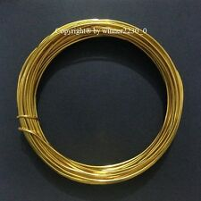 2mm Ø 12m Length Round Wire Aluminium Craft DIY Florist Decor 12 Gauge GOLD