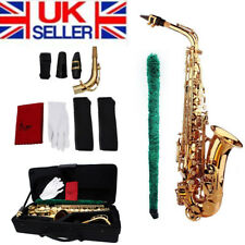 Professional Silver Gold Eb Alto Sax Saxophone with Accessories Kit+Case D9O9