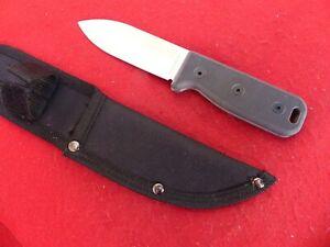 Ontario USA Made Black Bird SK-4 full tang fixed blade knife & sheath