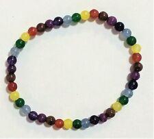Pulsera bolitas colores mujer elastica de 17 cm largo