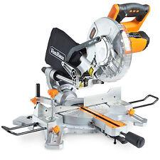 """VonHaus 1500W 8"""" 210mm Sliding Compound Mitre Saw +45°/-45° Bevel Cut Laser"""