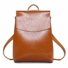 Women Vintage PU Leather Backpack Handbag School Travel Shoulder Crossbody Bag