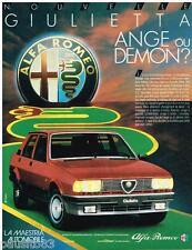 PUBLICITE ADVERTISING 105  1983  ALFA ROMEO  GIULIETTA ANGE ou DEMON