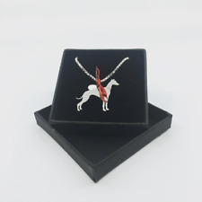 Paisley & Grace - Silver Greyhound Pendant