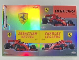 2020 TOPPS CHROME FORMULA ONE F1 WORLD ON WHEELS FERRARI LOT LECLERC VETTEL LOGO