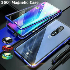 360° Magnetic Case For iPhone For OnePlus Adsorption Metal Double Glass Cover