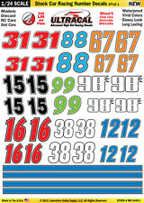 Mg6440-1 1/24 UltraCal Decals Stock Car Racing Number Innovative Hobby Supply