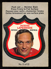 1972 73 OPC O PEE CHEE 11 JACQUES LAPERRIERE ENM PLAYER CREST MONTREAL CANADIENS