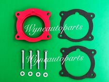 RED Throttle Body Spacer FIT 08-09 SATURN OUTLOOK, Vue, 08-09 SUZUKI XL7 V6 3.6L