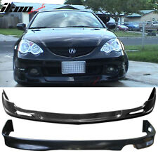 Fits 02-04 Acura RSX Coupe Urethane Lip Front +Rear Bumper Lip Spoiler Bodykit