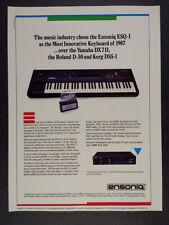 1987 Ensoniq ESQ-1 Synthesizer Keyboard vintage print Ad