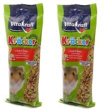 Hamster Treats Fruit Sticks x2 Tasty Boredom Breakers 2 Pack Food VITAKRAFT