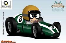 Coffee Mug Set (3 mugs) Jack Brabham (AUS) WC 1959 / 60 / 66 by Bruno Mantovani