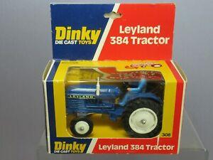 "VINTAGE DINKY TOYS MODEL No 308  LEYLAND 384 TRACTOR    "" BLUE VERSION""     MIB"