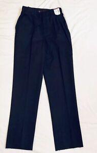 NWT Horace Small Women's Navy Blue Work Pants Size 14R Un-Hemmed