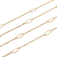 1M Gold Plated Stainless Steel Jewelry Making Chain DIY Accessories