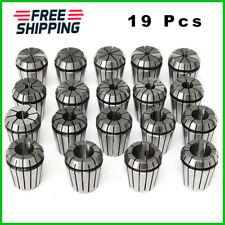 19Pcs ER32 2-20mm Spring Collet Chuck Set for CNC Milling Lathe Tool Holder