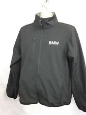 Mens Coat Jacket Black Bmw Zip Up  Clique Size L Polyester Elastane