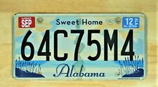 2012 SWEET HOME ALABAMA LICENSE PLATE 64C75M4 AUTO CAR VEHICLE TAG LOT 1590