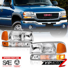 1999-2006 Gmc Sierra [Factory Style] 4Pc Bumper Headlights Assembly 00-06 Yukon (Fits: Gmc)
