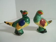 Vintage Birds Of Paradise Salt and Pepper Shakers Pheasants Very Colorful