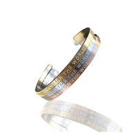 Bangle Pray For The World bracelete stainless steel/ Pulseras Trio Cartier acero