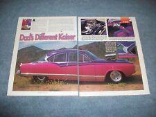 """1954 Kaiser Manhattan Vintage pro Street Articolo """" Dad's Diversi Kaiser'"""