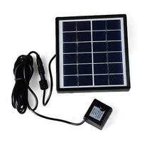 Solar Power Fountain Submersible Water Pump With Filter Panel Pond Pool 500L/h