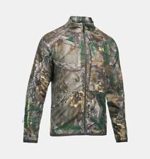 UA Under Armour ColdGear Infrared Mossy Oak Scent Hunting Jacket Camo Large L XL