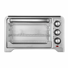Chefman 6 Slice Everyday Countertop Convection Toaster Oven, Stainless Steel