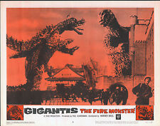 GODZILLA RAIDS AGAIN/GIGANTIS THE FIRE MONSTER orig 1959 lobby card poster #3