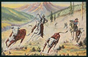 Mayfairstamps Western PC Dude Larsen Artist Signed Postcard wwo93901