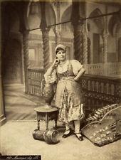 Photo Albuminé Femme Mauresque Vers 1880