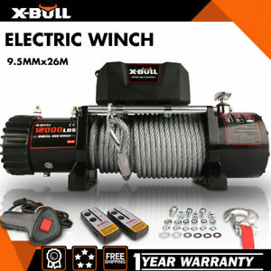 X-BULL Electric 12000LBS Winch Steel Cable Recovery Winch 4WD Wireless Off-Road