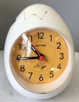 Rhythm  Egg Bird Chirp Alarm Clock Japan F173
