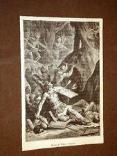 Incisione di fine '800 La morte di Tiberio Gracco
