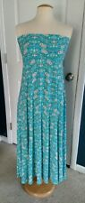 LulaRoe Maxi Skirt, Blue Floral, LG NWT