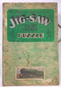 Vintage King Georg V Jig-Saw Jigsaw Wooden Puzzle Great Western Railway #491