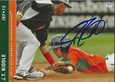 J.T. Riddle 2014 Greensboro Grasshoppers Signed Card