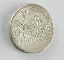 Roman Republic T. Mancinus, Claudius Pulcher, Q. Urbinius, Denarius