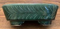 "Vintage Hull Pottery Green 10"" Planter  452 USA Leaves"