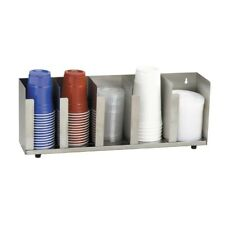Dispense-Rite Cup and Lid Organizer  Five Section Stainless Steel (CTLD-22)